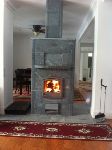 TTU2700/4 Soapstone Stove without Benches on Cape Cod, MA