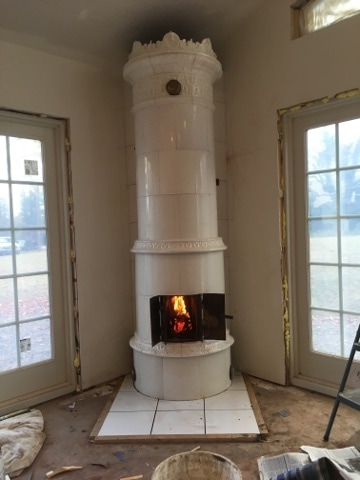 Antique Swedish Tile Heater in New Hampshire