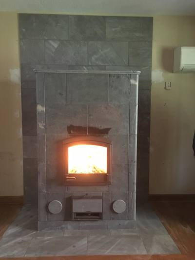 Conversion of existing Fireplace to a Tulikivi Soapstone Fireplace in Connecticut